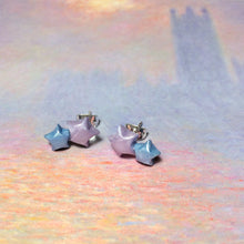 Double Lucky Star Earrings (Lavender/Blue)