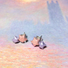 Double Lucky Star Earrings (Pink+Lavender)