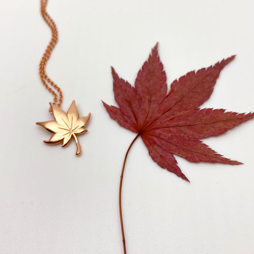 Maple 18K Rose Gold Necklace