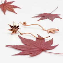 Maple 18K Rose Gold Asymmetric Earrings