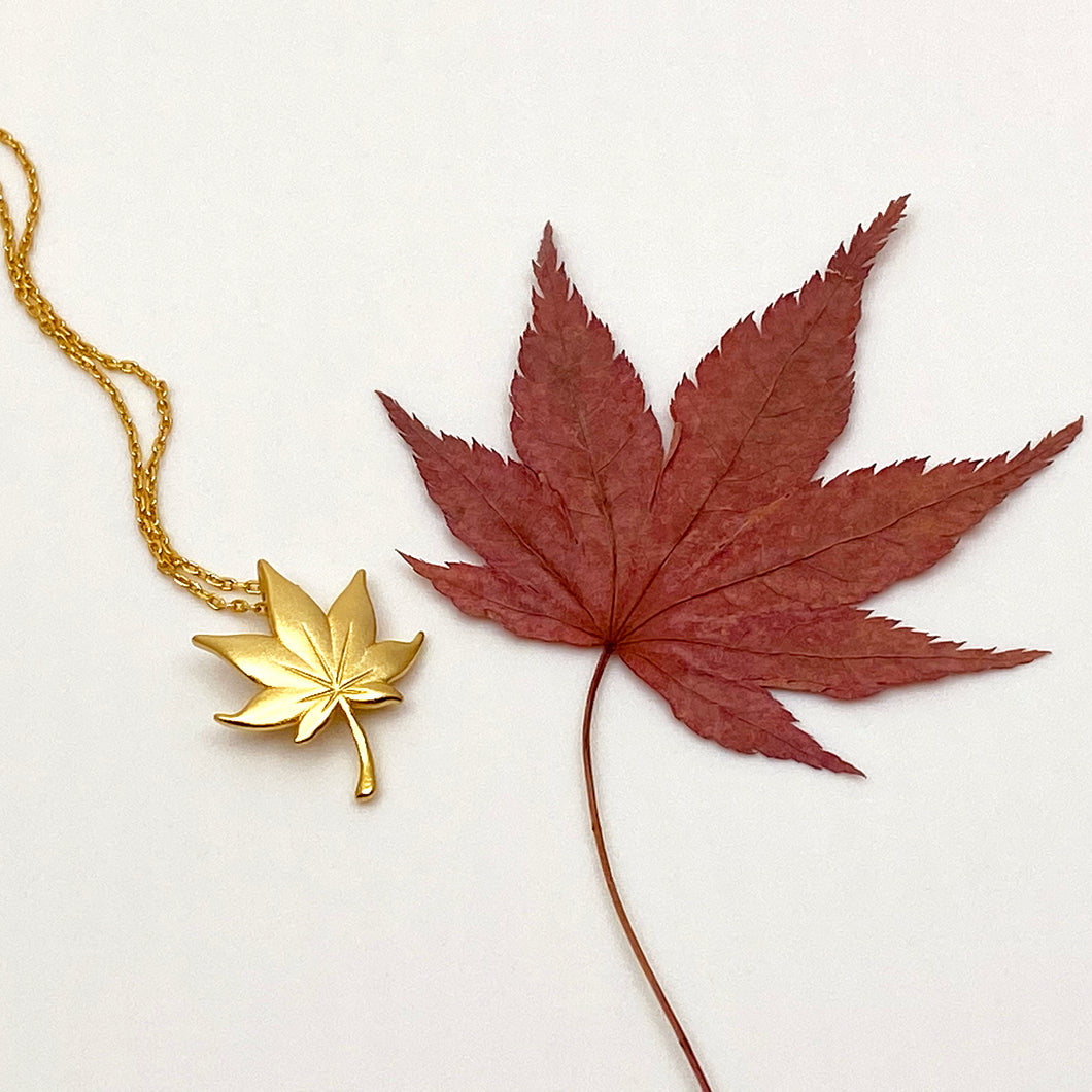 Maple 18K Matt Gold Necklace