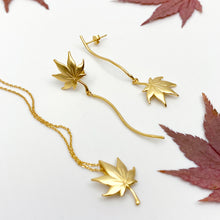 Maple 18K Matt Gold Asymmetric Earrings