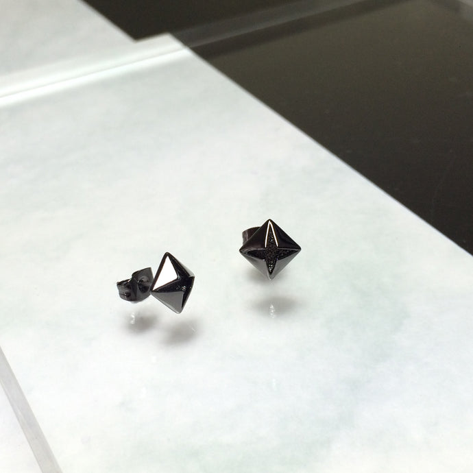 Men's Black Diamond Earrings (New)
