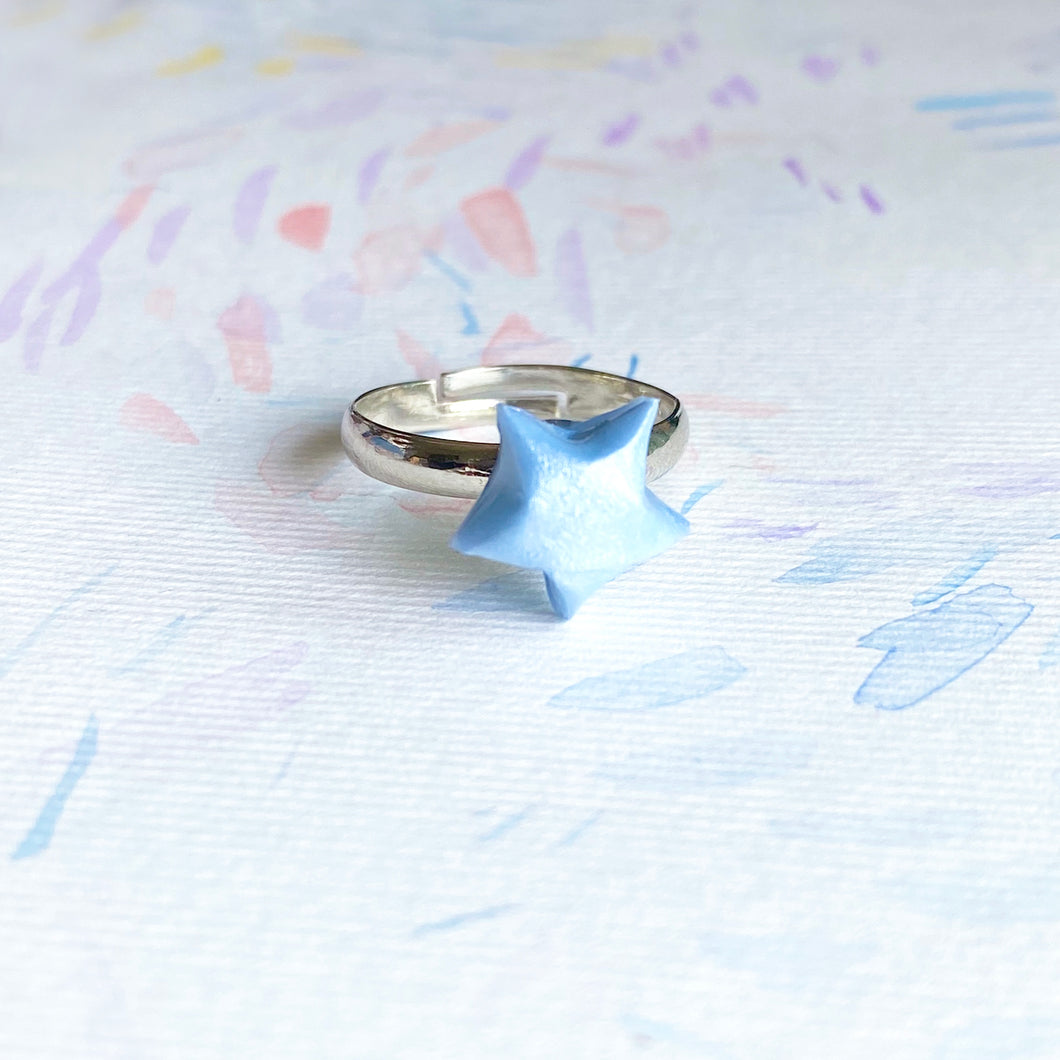 Lucky Star Ring (Baby Blue)