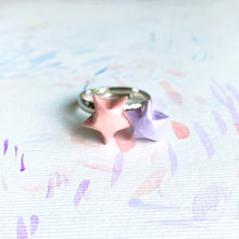 Double Lucky Star Ring (Pink+Purple)