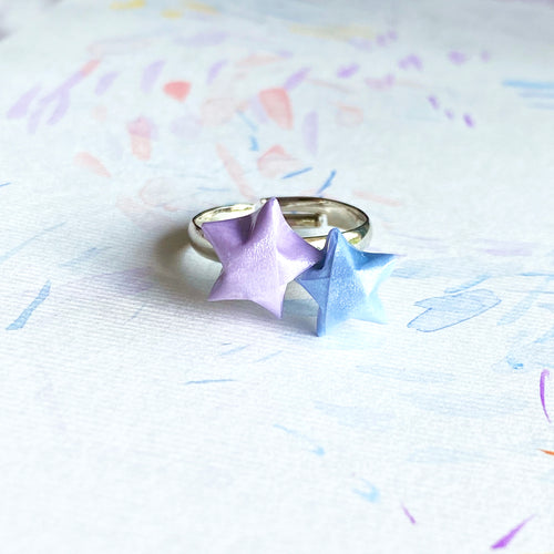 Double Lucky Star Ring (Purple+Blue)