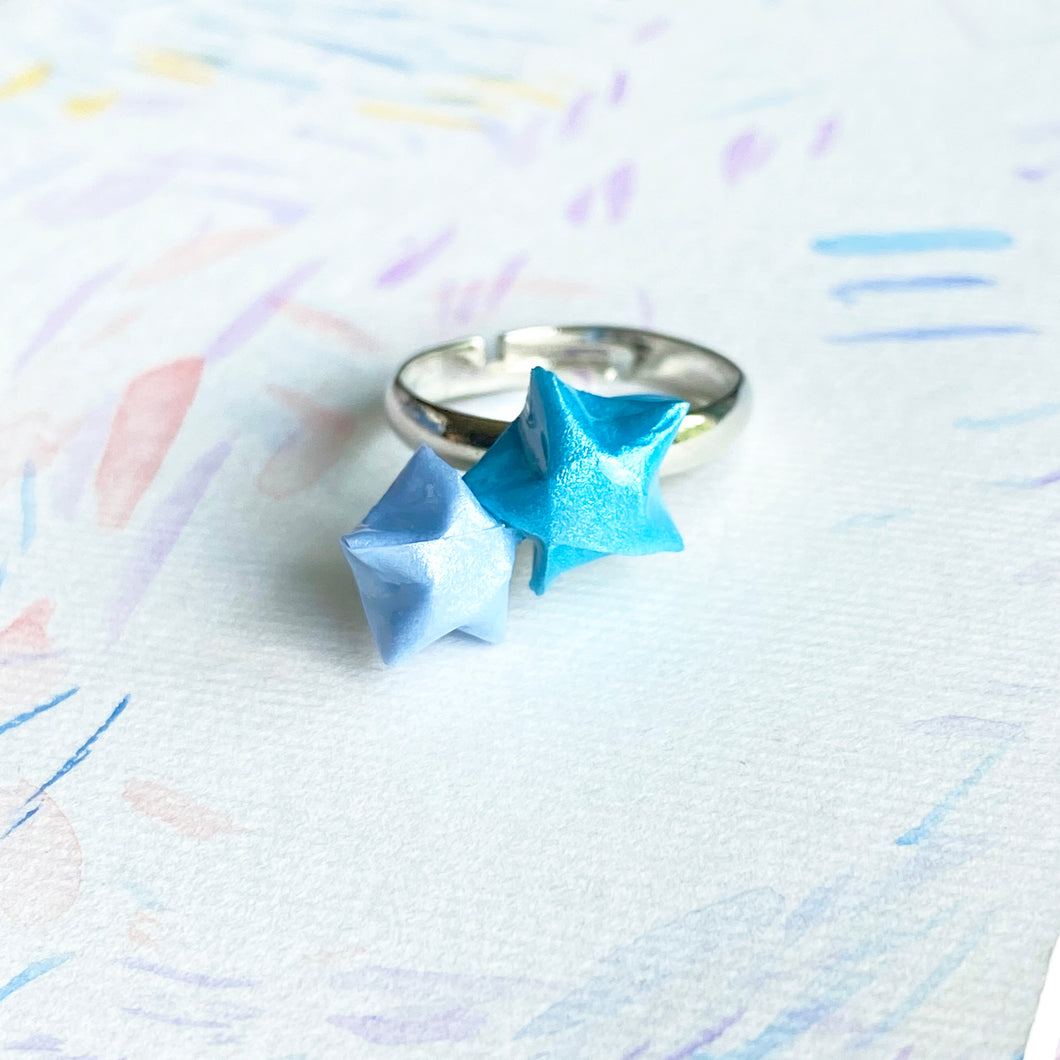 Double Lucky Star Ring (Turquoise+Baby Blue)