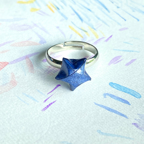 Lucky Star Ring (Space Blue)