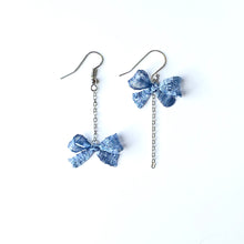 Bow Earrings (Blue)