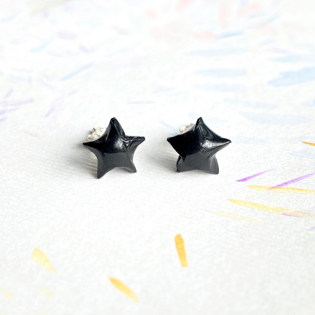 Lucky Star Earrings (Black)