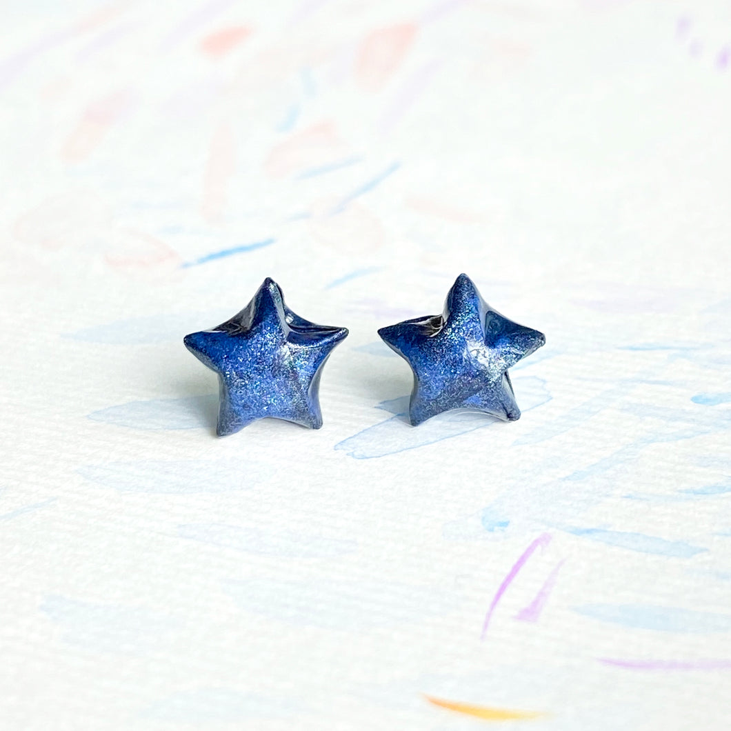 Lucky Star Earrings (Space Blue)
