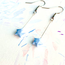 Shooting Star Earrings/ Ear Clips (Baby Blue)