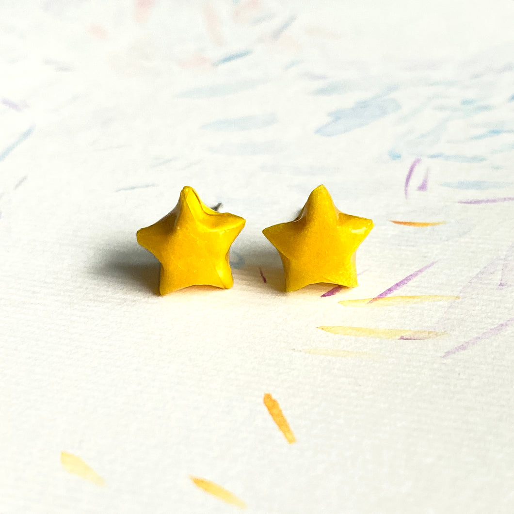 Lucky Star Earrings (Yellow)