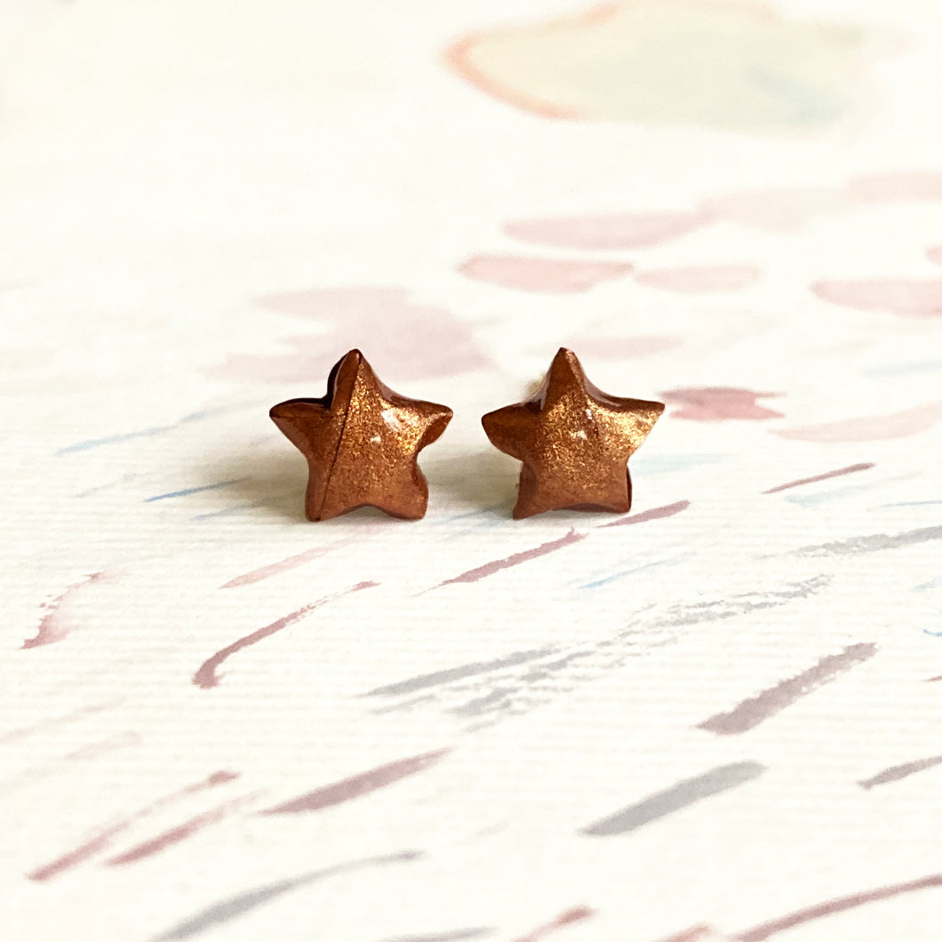 Lucky Star Earrings (Copper)