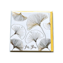 Ginkgo Leaf Gold Stamping Gift Card