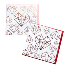 Diamond Heart Gold Stamping Gift Card