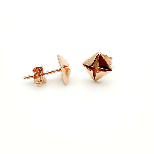 Classic 14K Rose Gold Earrings