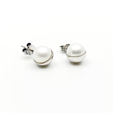 Half Moon Natural Pearl Silver Earrings