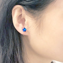 Lucky Star Earrings (Shinny Blue)