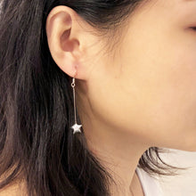 Shooting Star Earrings/ Ear Clips (Silver)