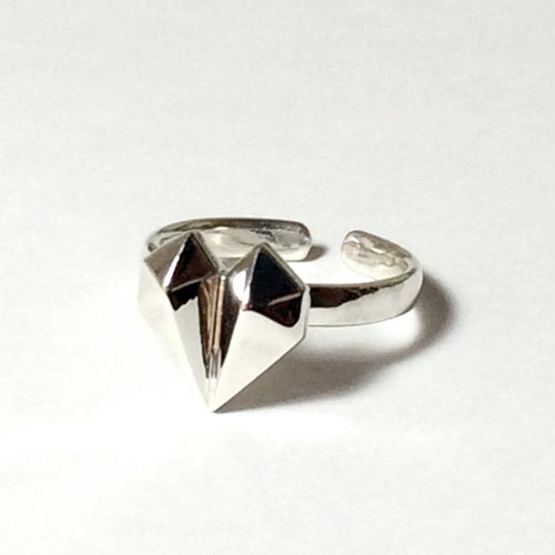Diamond Heart 18K White Gold Ring