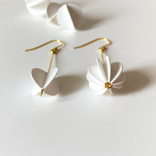 White Collection | ROUND Asymmetric Silver Earrings/ Ear Clips