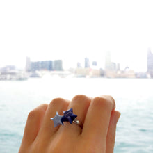 Double Lucky Star Ring (Space Blue+Baby Blue)