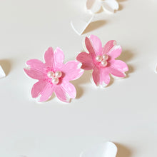 Sakura Earrings/ Clips (Pink)
