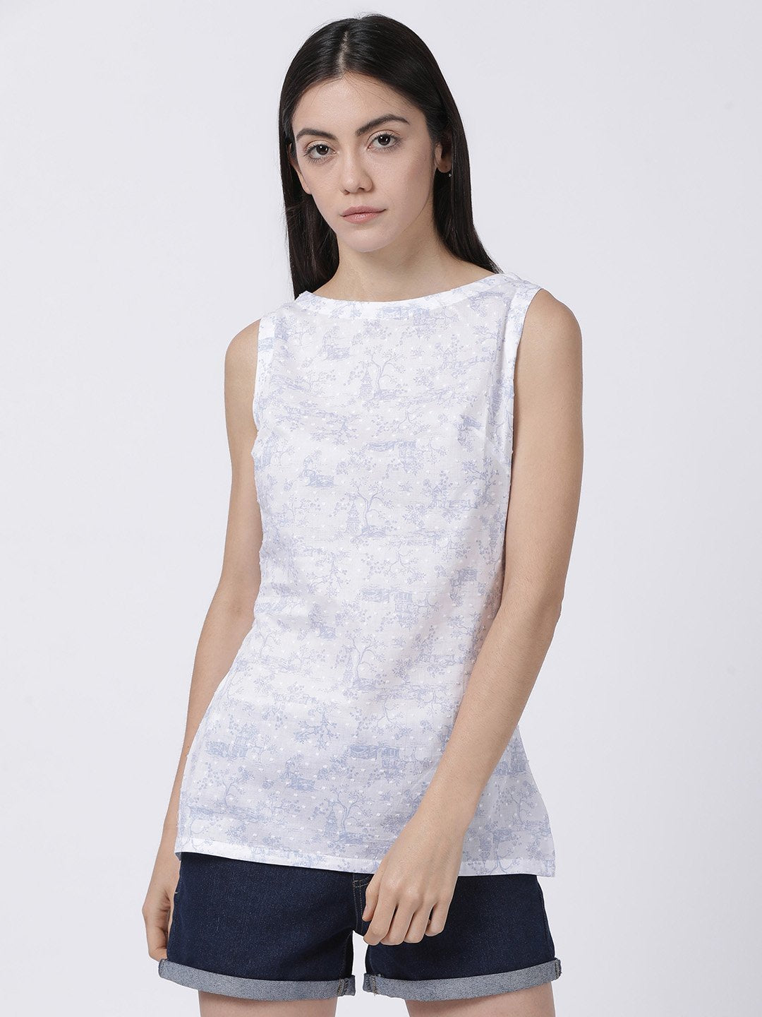 Hakoba Sleeveless Printed Top - Rossbelle
