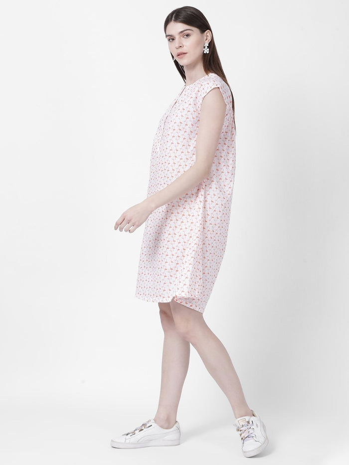 Flamingo Printed Dress - Rossbelle