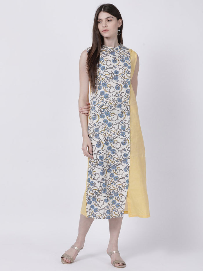 Kalamkari Panelled Dress - Rossbelle
