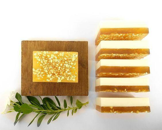 Sandalwood Wonder, Honey, Goatmilk & Oats Soap - Rossbelle