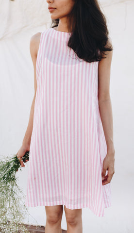 Sleeveless Striped Sun Dress - Rossbelle