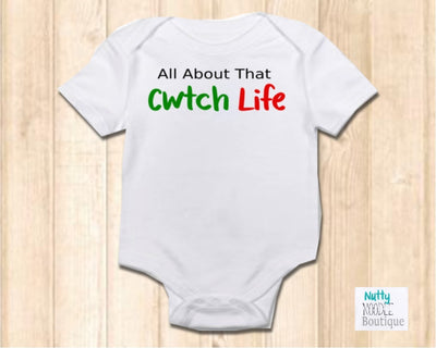 Baby Grow  - All About That Cwtch Life | Welsh Phrase Slogan