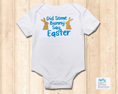 Baby Grow - Did Some Bunny Say Easter - Blue