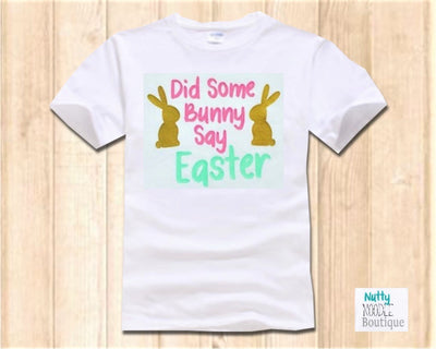 Children's T-Shirt - Did Some Bunny Say Easter | Pink