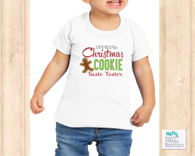 Christmas Youth T-Shirt: Official Christmas Cookie Taste Tester