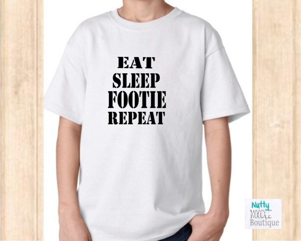 Youth T-Shirt - Eat, Sleep, Footie, Repeat
