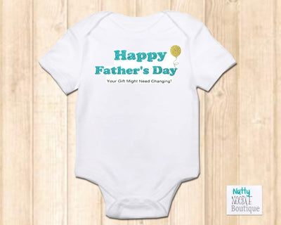Baby Grow - Happy Father's Day | Blue Glitter Effect