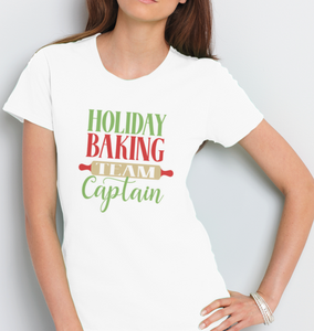 Christmas Women's T-Shirt: Holiday Baking Team Captain