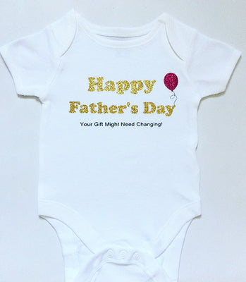 Baby Grow - Happy Father's Day | Gold Glitter Effect