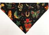 Dog Bandana - Sailor Jerry Tattoo Theme | Custom Name Options