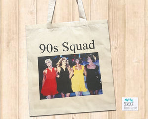 Canvas Tote Shopper Bag - 90s Supermodel Retro Design