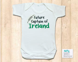 Baby Grow - Rugby Theme | Future Captain of Ireland