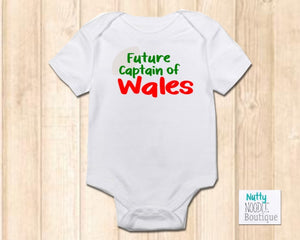Baby Grow - Rugby Theme | Future Captain of Wales