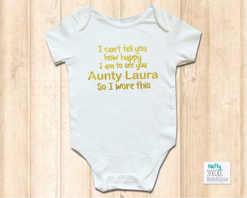 86b956dee Baby Grow - Custom Message |Add Your Choice of Name | Nutty Noodle ...