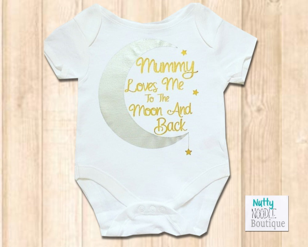 Baby Grow - Mummy Loves Me To The Moon And Back