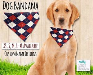 Dog Bandana - Pringle Punch Print | Custom Name Options