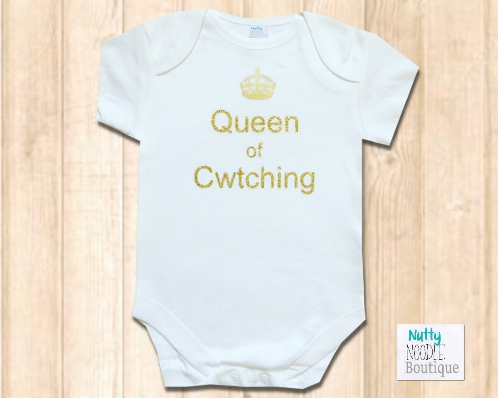 Baby Grow  - Queen of Cwtching | Welsh Phrase Slogan