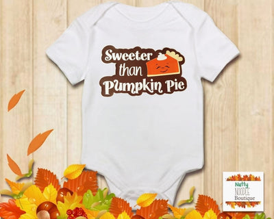 Baby Grow - Sweeter Than Pumpkin Pie | Fall/Autumn Theme
